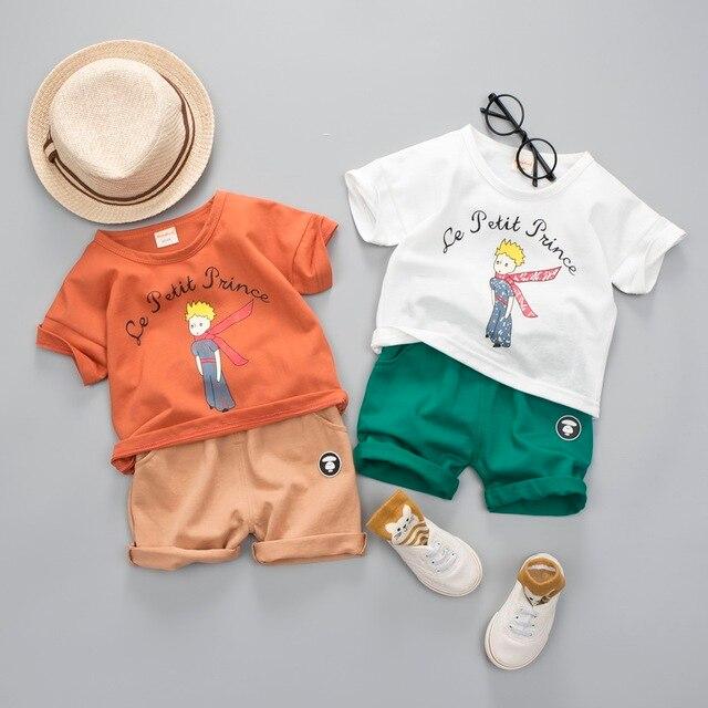 bf73169c6 Meninas do bebê Conjuntos de Roupas de Marca Menino Le Petit Prince Verão  Roupa Dos Miúdos