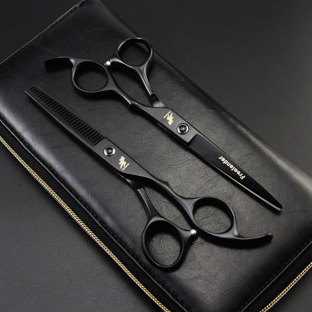 2018 Professional freelander 6,0 дюймов ножницы для волос Парикмахерские ножницы Резка истончение ножницы инструменты укладки Парикмахерские ножницы