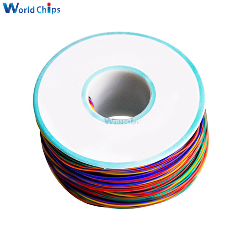Image 3 - Wrapping Wire 280M 30 AWG B 30 1000 8 color AWG30 Cable Breadboard Jumper Colored Insulation-in Integrated Circuits from Electronic Components & Supplies