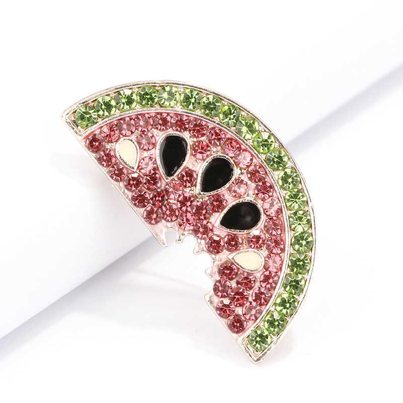 Flashbuy Berlian Imitasi Paduan Semangka Bros untuk Wanita Pria Gadis Hadiah Buah Bros Pin Dekorasi Aksesoris Perhiasan