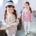 baby girls clothes child sweatshirt autumn and winter 2016 pullover rabbit kids sweatshirt plus velvet sweatshirt casual hoodies
