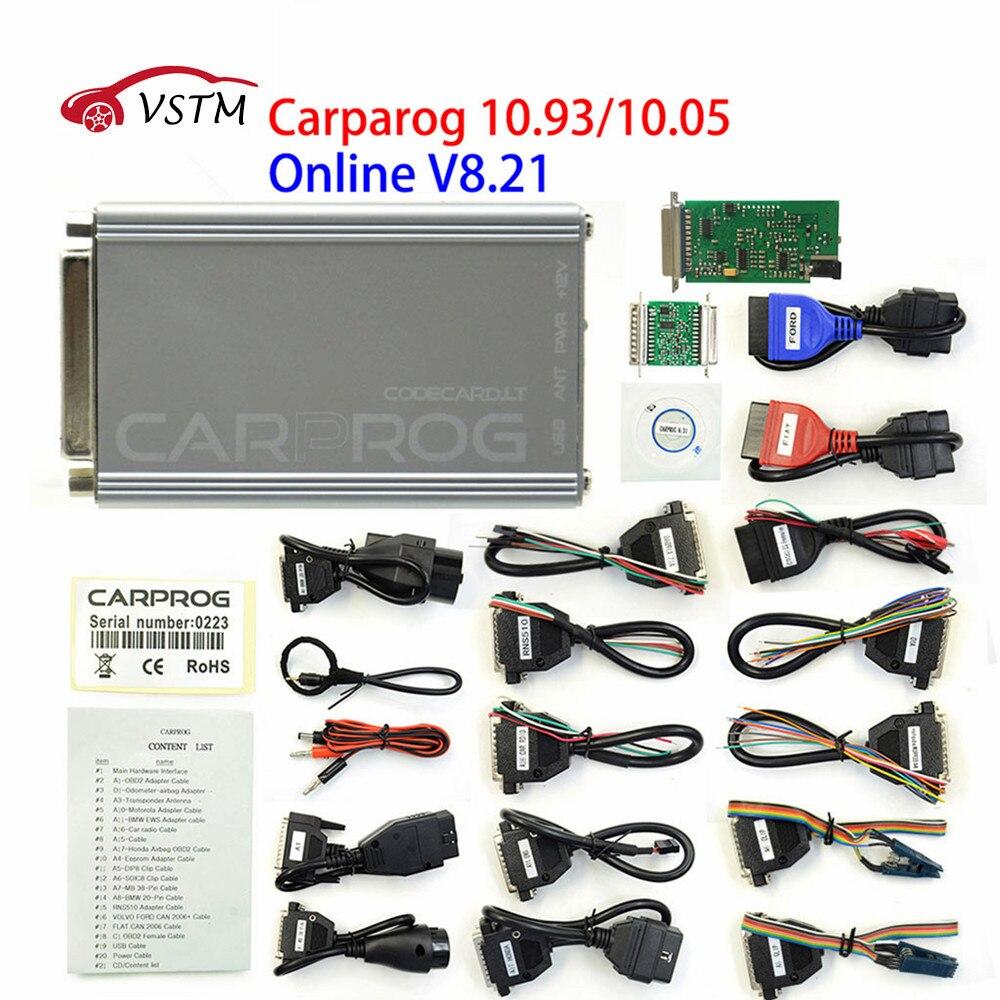 Инструмент для ремонта автомобиля CARPROG V10.05 V10.9 или V8.21, онлайн-версия программатора чипа 74hc125, автомобильный prog с 21 адаптером