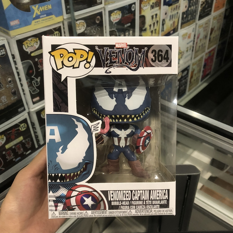 Funko Pop Official Marvel: Venom - Venom Captain America Vinyl Action Figure Collectible Model Toy With Original Box