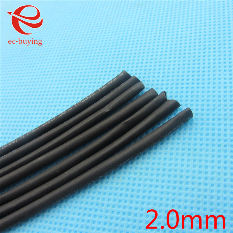 1m Heat Shrink Tubing Tube Heatshrink Black Tube Inner Diameter 2mm Wire Wrap Cable Kit