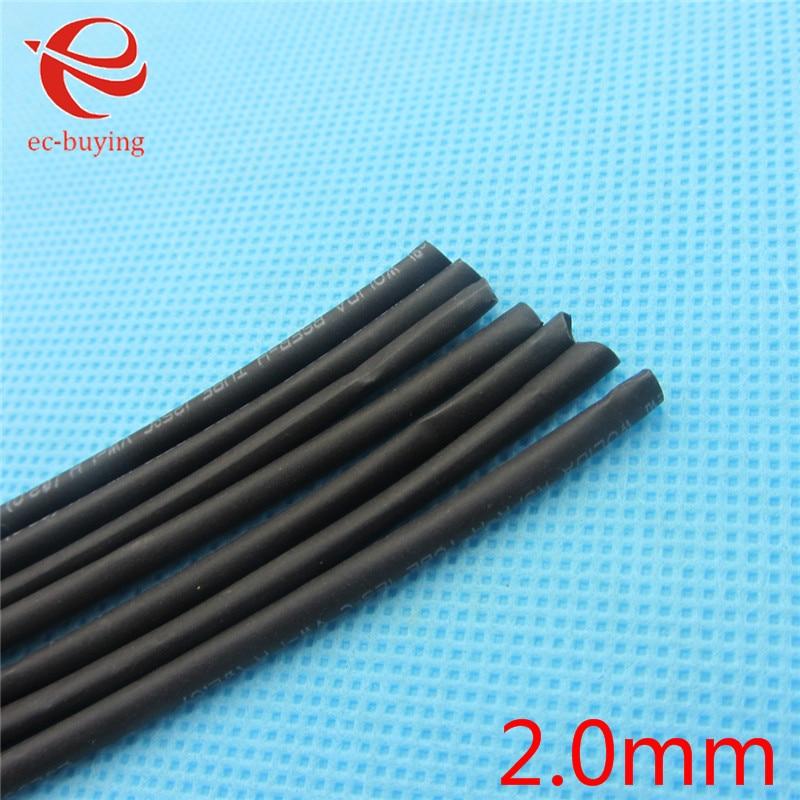 1m Heat Shrink Tubing Tube Heatshrink Black Tube Inner Diameter 2mm Wire Wrap Cable Kit