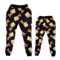 Nova moda calças corredores gráfico 3d impresso engraçado criativo simpson moletom para homens/mulheres hip hop estilo calças unissex