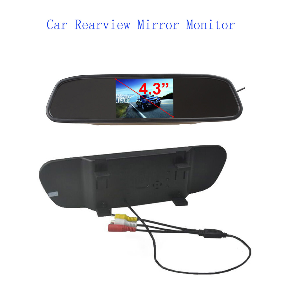 new HD <font><b>4.3</b></font> <font><b>inch</b></font> <font><b>TFT</b></font> LCD Car Rearview Mirror Monitor Car Reverse Monitor Screen 16:9 Color image
