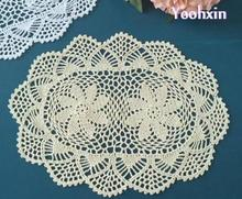 New oval Cotton Crochet tablecloth white handmade Table cloth mantel lace Xmas Table Cover home party Christmas wedding decor