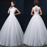 Vestido De Novia Real Sample Wedding Dress Lace Applique Tulle A Line Long Sleeve Wedding