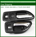 New Black Inside Door Handle Fit For 94-97 Honda Accord (Front Pair Left & Right) Free Shipping  72165-SV4-003-J/72125-SV4-003