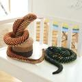 Wholesale 100cm Creative simulation cobra plate snake doll children birthday girl boys joke gifts cobra boy plush Toys