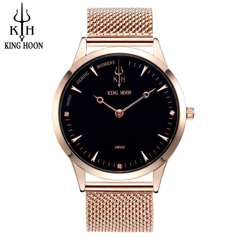 KINGHOON Rose Gold Uhr Herrenuhren Top-marke Luxus Wasserdichte Quarz-uhr Stahl armbanduhren für Männer uhren hombre 2016