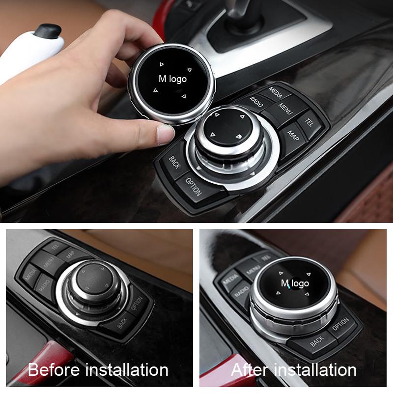 Car Interior Multimedia Buttons Cover Accessories For BMW 1 2 3 4 5 7 Series X1 X3 X4 X5 X6 F30 F10 F15 F16 F34 F07 F01 E70 E71 executive car