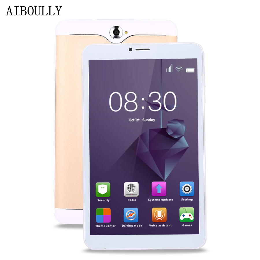 AIBOULLY 7 Inch Original WiFi Tablet PC Android 6 Kids Drawing Tablet Quad Core Dual Camera 1GB RAM 8GB 3000 MAh With Case 8''
