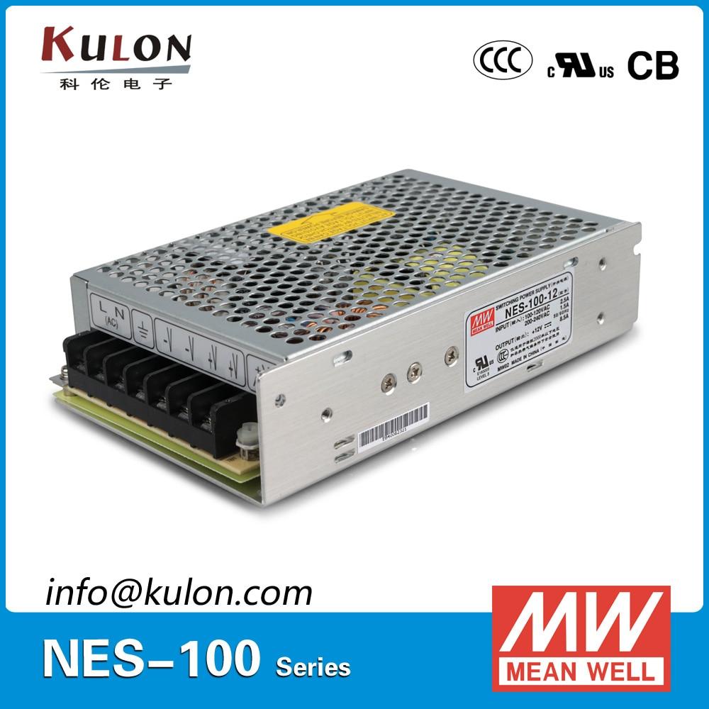 Original Meanwell NES-100-12 Single output 100W 8.5A 12V Mean well Power Supply Unit NES-100 original meanwell nes 350 48 ac to dc single output 350w 7 3a 48v mean well power supply nes 350