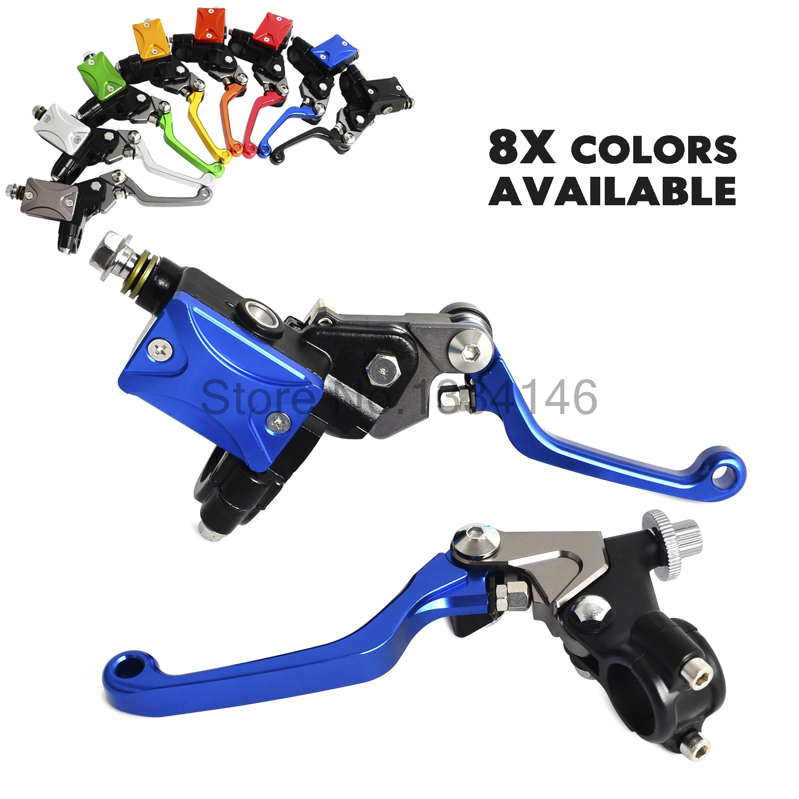 Motorcycle 7/8Hydraulic Brake & Cable Clutch Lever Set Assembly For Yamaha YZ80 85 125 250 WR 250 450 TTR XT 250 600 YFZ450