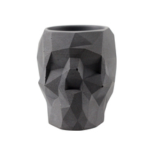 Nicole Silicone Concrete Mold Skull Flowerpot Mould Polygon Skeleton Shape Handmade Craft Cement Halloween Planter Tool liandu fashion men s luxury chronograph luminous black quartz watch simulated stainless steel mesh with watch