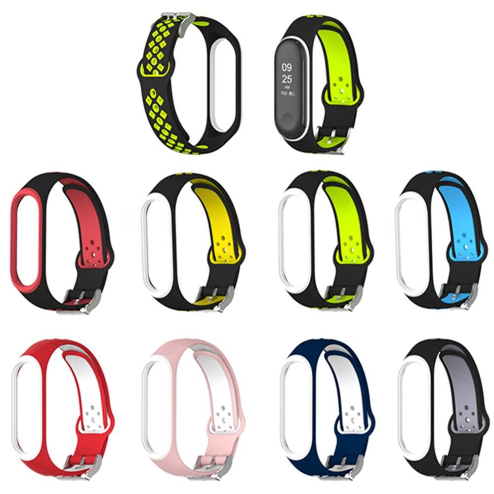 Mi Band 3 4 Strap Bracelet Sport Silicone Watch Wrist Strap Accessories Mi Band3 Bracelet Smart For Xiaomi Mi Band 3 4 Strap