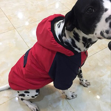 Купить с кэшбэком OnnPnnQ Warm Winter Dog Clothes Jacket Rainproof And Coldproof Cotton Clothing Pet Dog Hoodie Coat For Satsuma Large Dog Outfit