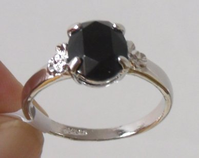 italina ring. Free shipping.18K GP Gold Ring.18 KGP white gold & black crystal ring.Wholesale & retail fashionable woman a ring