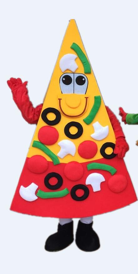 New Arrival 2017 Cute Pizza Cartoon Character Mascot Costume Food Mascot Costume Fancy Costume for Halloween Party Adult Size
