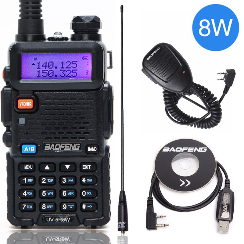 Baofeng UV-5R 8W High Powerful Two Way Radio Walkie Talkie 8 Watts CB Ham Portable Radio 10km Long Range Pofung UV5R For Hunting(China)