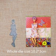 Short hair girl Metal Cutting Dies DIY Decorative Scrapbooking Craft Card Album Stencils 102*30 mm
