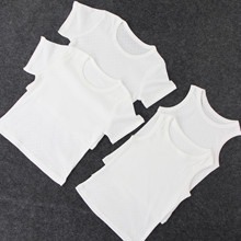 2019 summer baby kids T shirt  soft TEE short-sleeved  White Breathable cotton Mesh hole tops   tshirt for 1 to 14 years kids 5t to 14 years kids