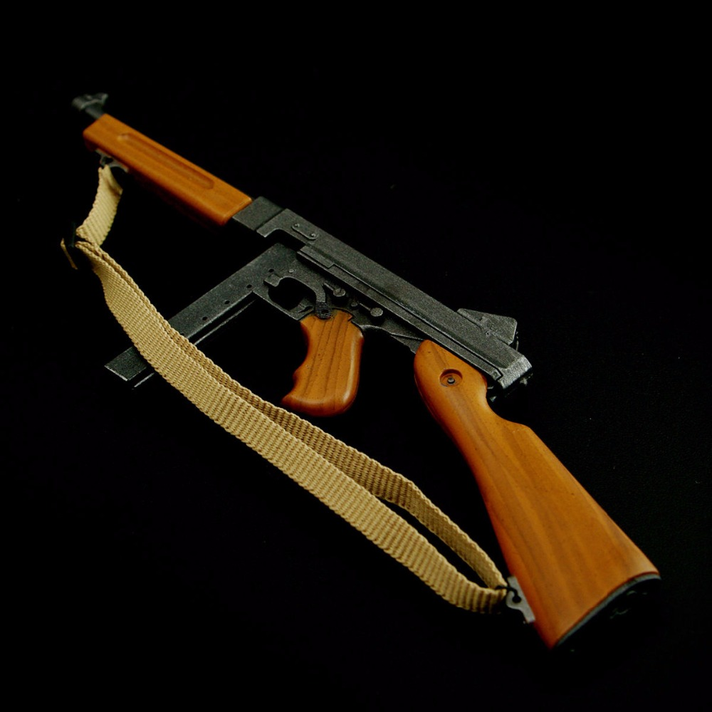 Submachine Gun-Model Action-Figure Marine USMC Thomson DRAGON 12''soldier 1/6-Scale WW2