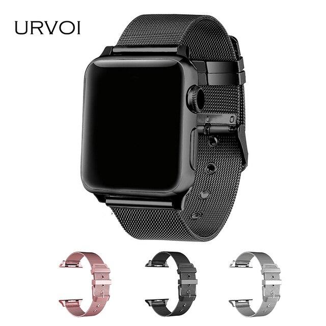 f82cdbf05d442 URVOI milanese para apple watch band Series 4 3 2 1 enlace pulsera correa  para iwatch