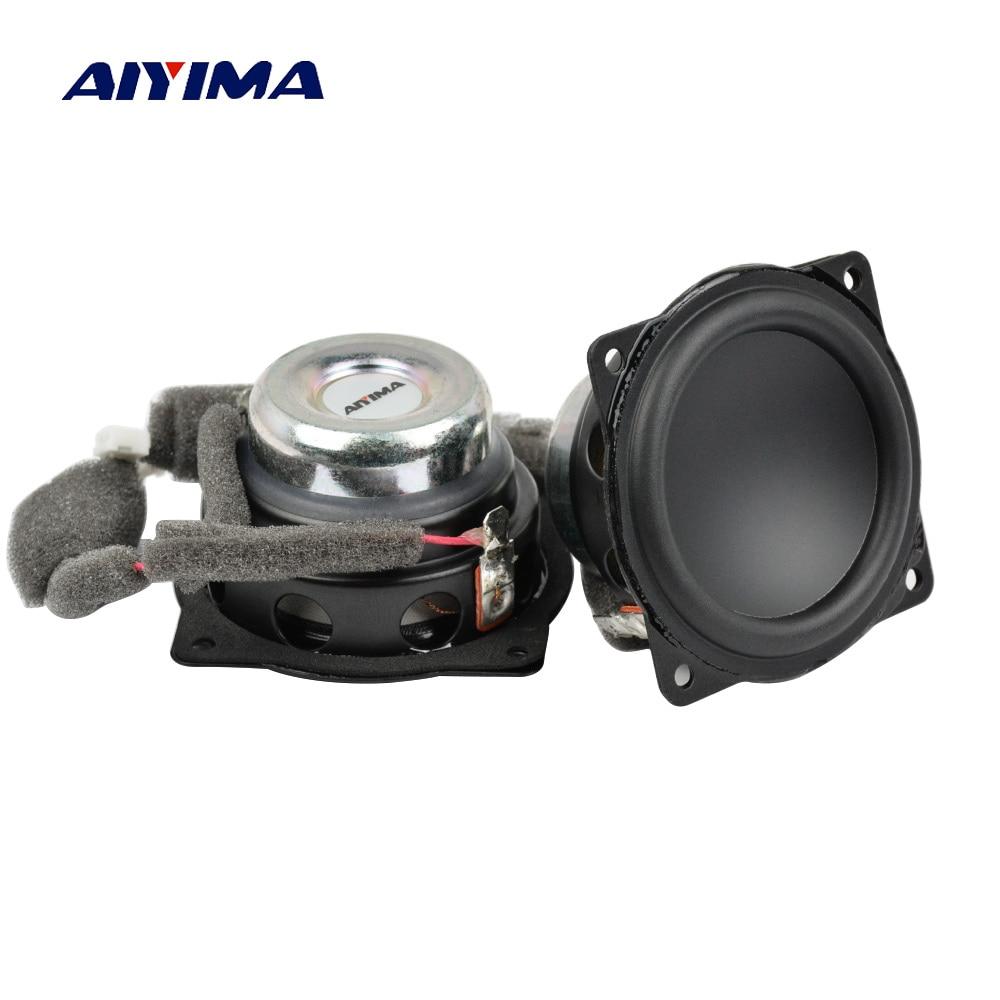 AIYIMA 2Pcs 2Inch Mini Audio Portable Speakers