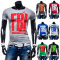 High Quality FBI Printed Fashion element men T shirts Slim fit casual O neck Short sleeve new Tee shirts 7 color homme de marque