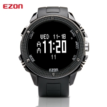Cheaper EZON Altimeter Barometer Thermometer Compass Weather Forecast Outdoor Men Digital Watches Sport Clock Climbing Hiking Wristwatch