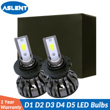 ASLENT 2PCS Suitable for D1S D2S D3S D4S D5S LED Bulbs Car headlight D1 D2 D3 D4 D5 D1R D2R D3R D4R headlamp light 6500K 12V 24V bifi 2x v2 d1 d2 d3 d4 dc11 30v car headlights low beam white 72w lumens 8400lm titanium gray