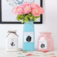 Simple art Nordic ceramic vase Flower arrangement Home decor living room table decoration