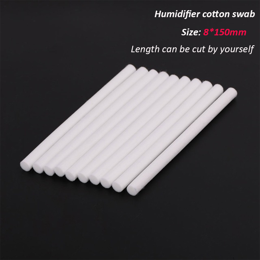 10 Pieces 8*150mm Humidifiers Filters Cotton Swab For USB Air Ultrasonic Humidifier Aroma Diffuser Replace Parts Can Be Cut