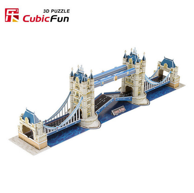 London Tower Bridge Model 120pcs Cubicfun 3D Puzzle MC066 76*12*23CM