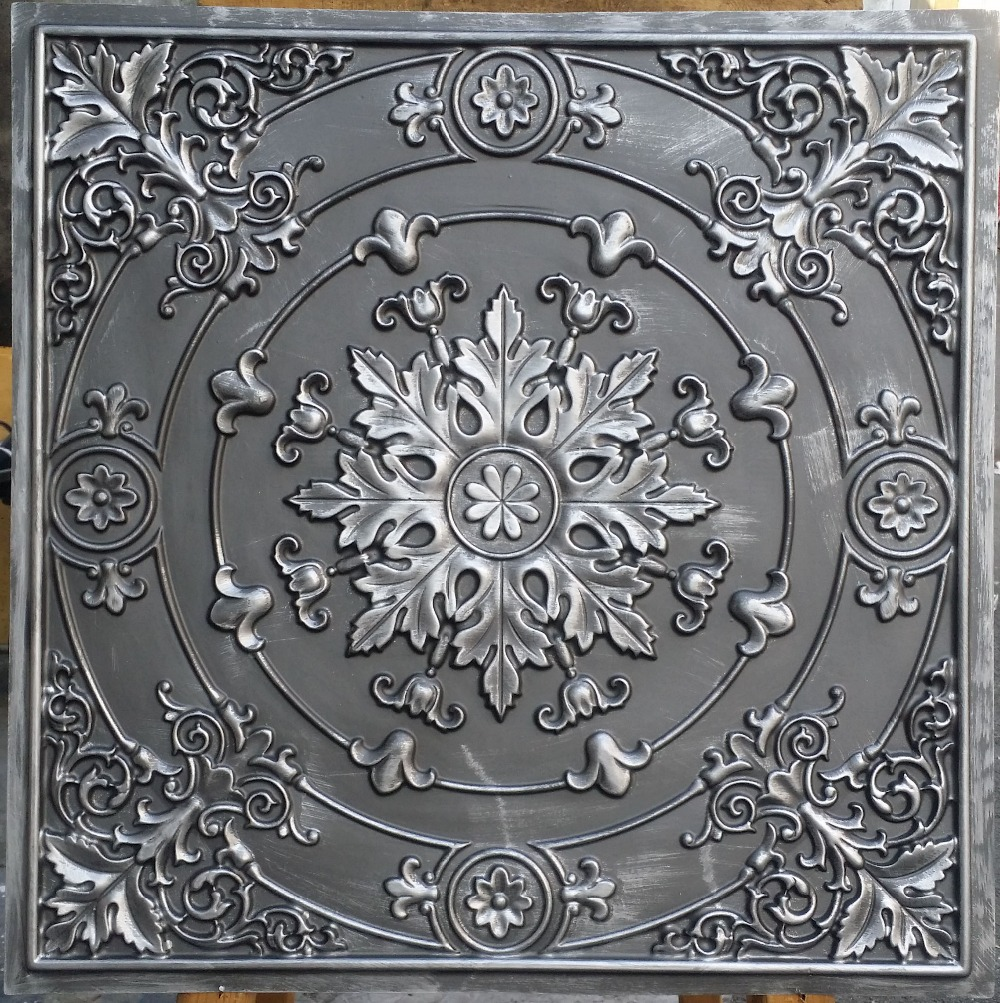 Pl18 Faux Tin Ceiling Tiles Antique White Color 3d