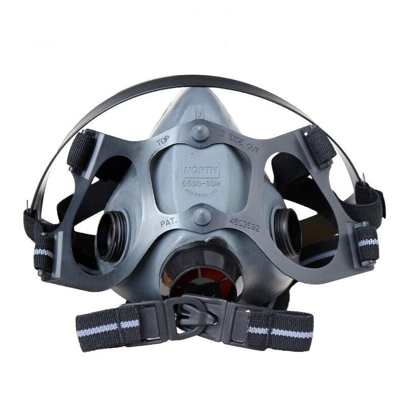 NORTH By Honeywell 550030M 5500 Series Low Maintenance Half Face Paint Spray Dust Proof Mask Respirator Air Purify Medium