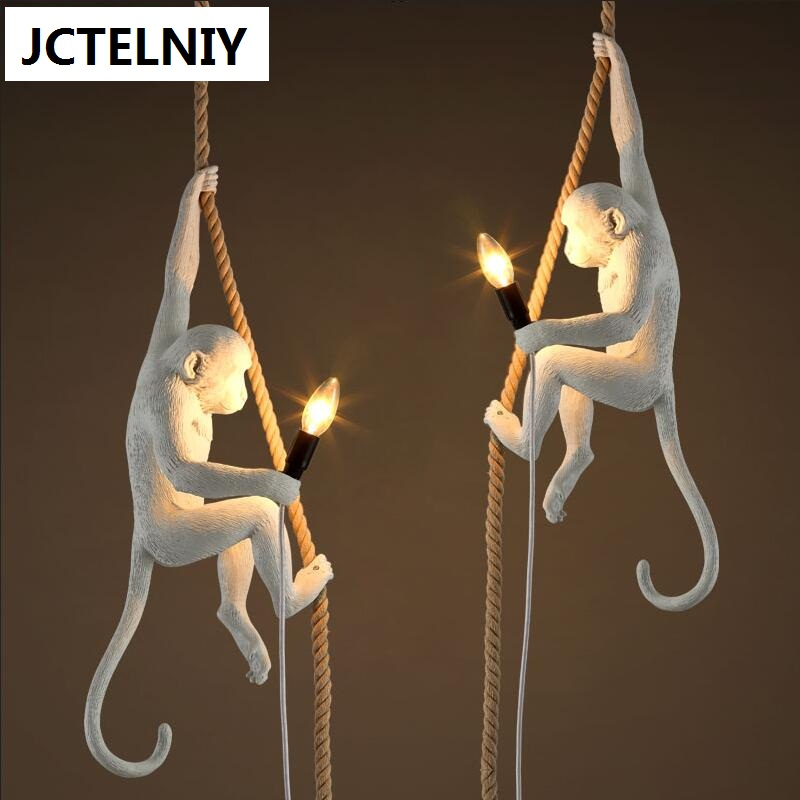 Creative personality resin lamps corridor restaurant cafe bar study monkey droplight of children room light creative personality resin lamps corridor restaurant cafe bar study monkey droplight of children room light