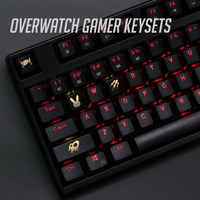 4 unids/set luz de fondo OW key caps ABS grabado Keycap brillante-a través de Overwatch gamer Teclado mecánico ANSI negro