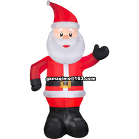 1.8m Inflatable Santa Claus Chirstmas Decoration Supplies For Supermarket Bar Christmas Outdoor Ornamet Navidad Party Supplies