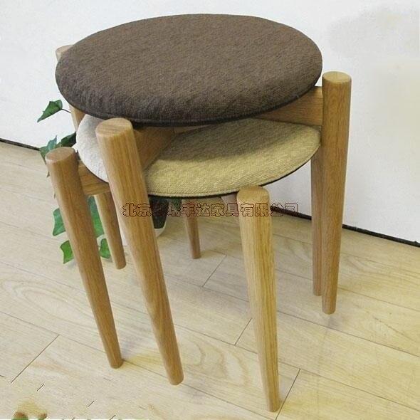 Muebles de madera maciza silla de comedor heces bancos heces moderna ...