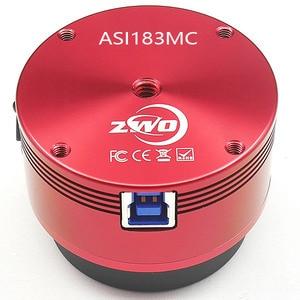 Image 2 - ZWO ASI183MC لون الفلك كاميرا ASI الكواكب الشمسية التصوير القمري/توجيه عالية السرعة USB3.0