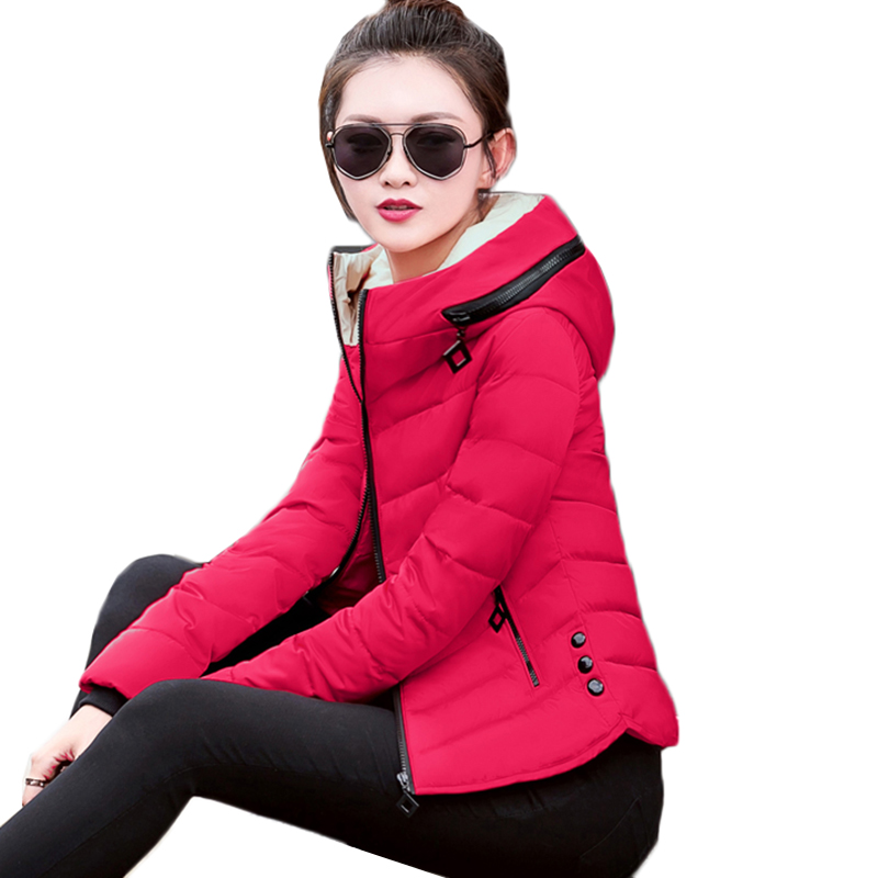 Winter Parka Women Coats New Fashion Hooded Short Outerwear Down Cotton Jacket Slim Large Size Girls Student Cotton Clothes 379