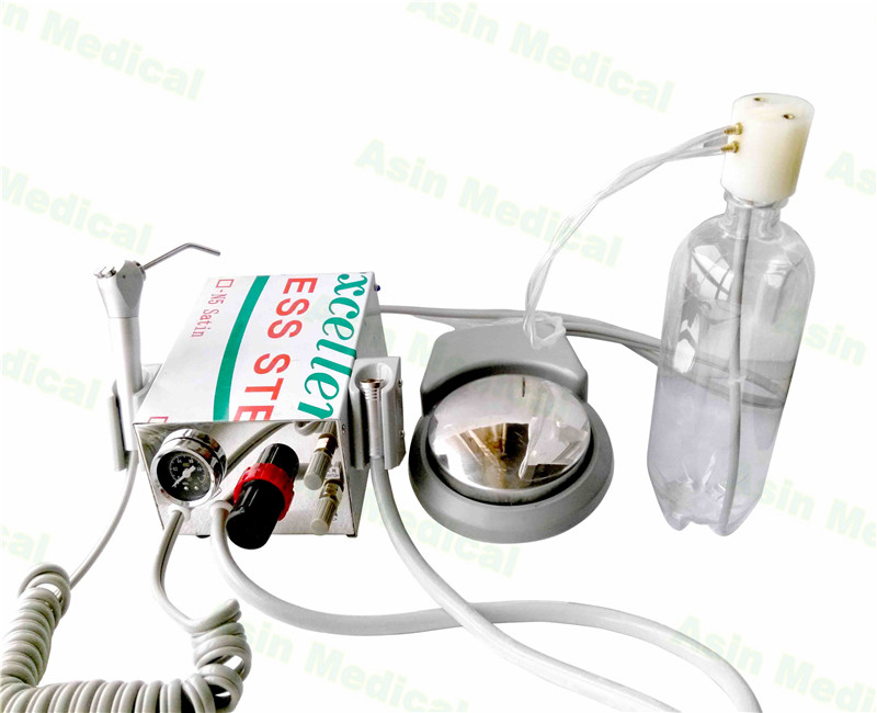 Dental Turbine Unit Portable dengan 1 buah tabung handpiece + 1 syringer