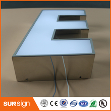 Customize frontlit led letter with acrylic panel for wedding