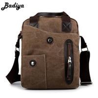 Retro Mens Messenger Bag High Quality Canvas Multi Function Handbag Men Travel Bags Business Cross Bady