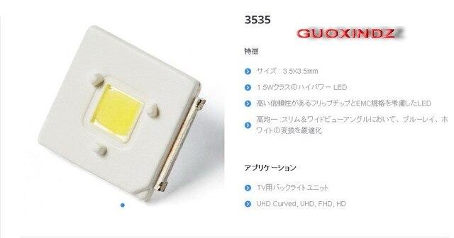 Lúmenes LED retroiluminación Flip Chip LED 2,4 W 3V 3535 blanco frío 153LM para SAMSUNG LED retroiluminación LCD aplicación de TV