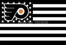 Philadelphia Flyers Stars and Stripes Nation Flag NHL 3′ x 5′ Fan Flag 150X90CM NFL NHL MLB NBA Banner brass metal holes Flag
